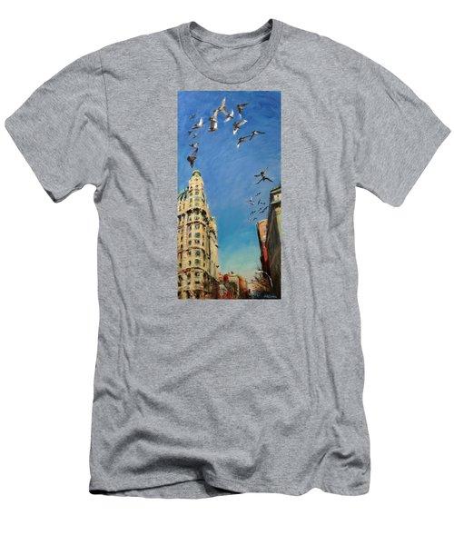 Broadway Pigeons No. 1 Men's T-Shirt (Athletic Fit)