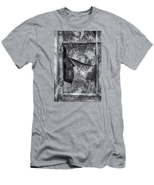 Men's T-Shirt (Slim Fit) featuring the photograph Broken Window by Tom Singleton