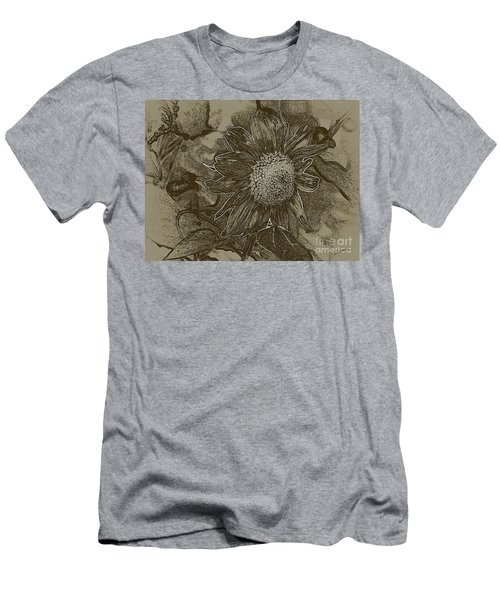 Bronzed Out Sunflower Men's T-Shirt (Athletic Fit)
