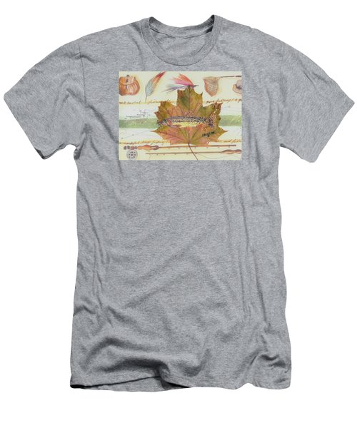 Brook Trout On Fly #2 Men's T-Shirt (Slim Fit) by Ralph Root