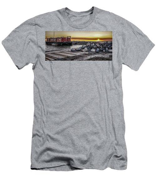 Brooklyn Waterfront Sunset Men's T-Shirt (Slim Fit) by Jeffrey Friedkin