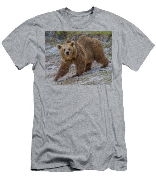 Men's T-Shirt (Athletic Fit) featuring the photograph Brown Bear 3 by Larry Linton