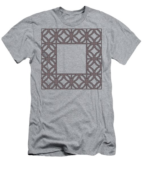 Men's T-Shirt (Slim Fit) featuring the digital art Brown Circles And Squares by Chuck Staley