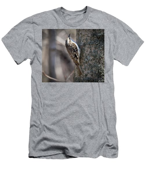 Men's T-Shirt (Athletic Fit) featuring the photograph Brown Creeper  by Ricky L Jones