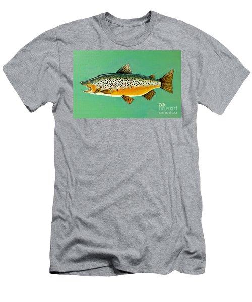 Brown Trout Men's T-Shirt (Athletic Fit)