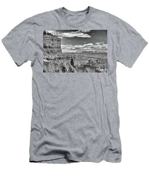 Bryce Canyon In Black And White Men's T-Shirt (Slim Fit)