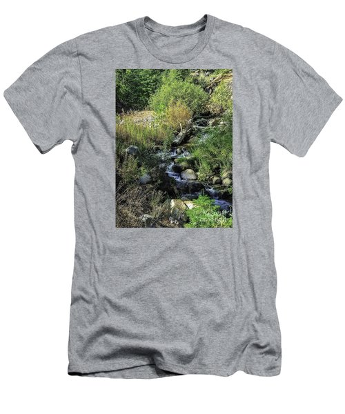 Bubbling Brook Men's T-Shirt (Slim Fit) by Nancy Marie Ricketts