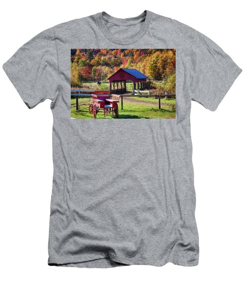 Men's T-Shirt (Athletic Fit) featuring the photograph Buck Board Ready For Fall Colors by Jeff Folger