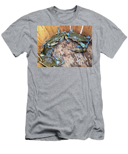 Bucket Of Blue Crabs Men's T-Shirt (Slim Fit) by Jennifer Casey