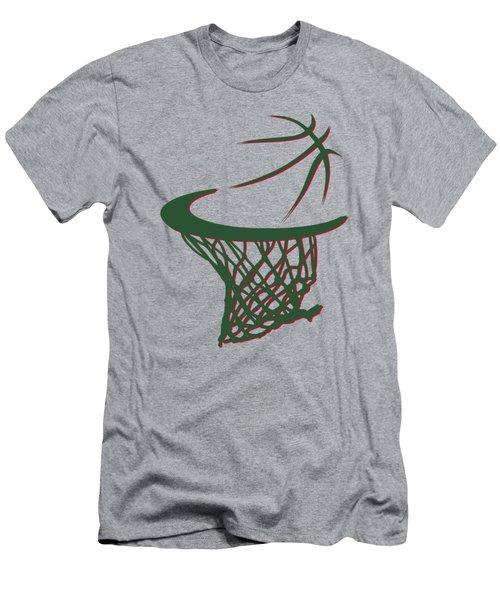 Bucks Basketball Hoop Men's T-Shirt (Athletic Fit)