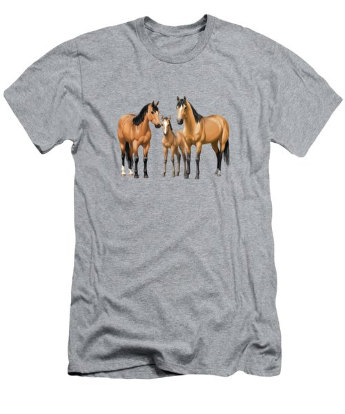 Buckskin Horses In Winter Pasture Men's T-Shirt (Athletic Fit)