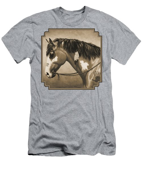 Buckskin War Horse In Sepia Men's T-Shirt (Athletic Fit)