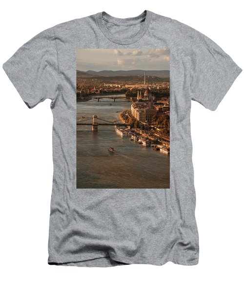 Budapest In The Morning Sun Men's T-Shirt (Slim Fit) by Jaroslaw Blaminsky