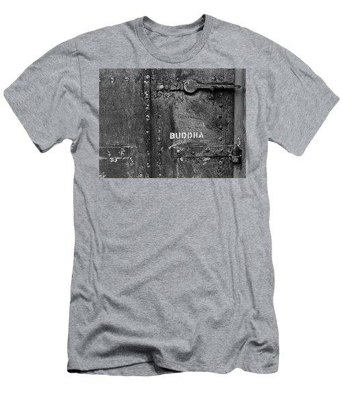 Buddha Men's T-Shirt (Slim Fit) by Laurie Stewart