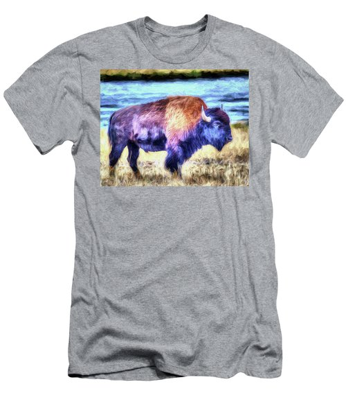 Buffalo Fine Art Print Men's T-Shirt (Athletic Fit)