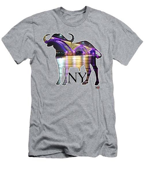 Buffalo Ny Peace Bridge  Men's T-Shirt (Athletic Fit)