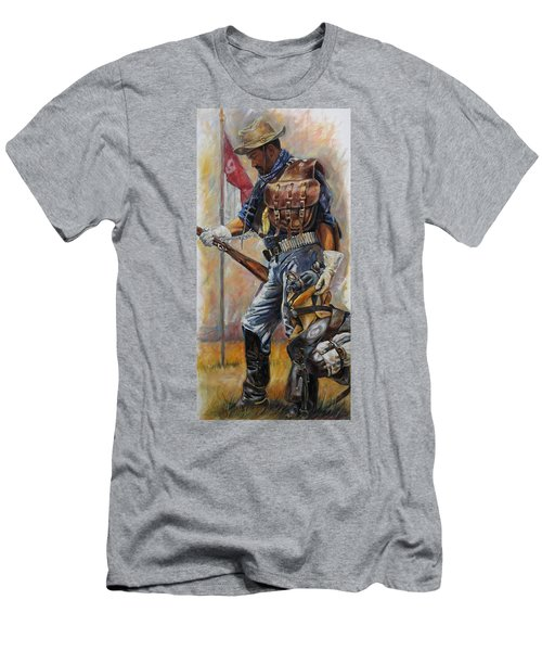 Buffalo Soldier Outfitted Men's T-Shirt (Athletic Fit)