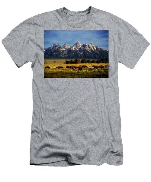 Buffalo Under Tetons Men's T-Shirt (Athletic Fit)