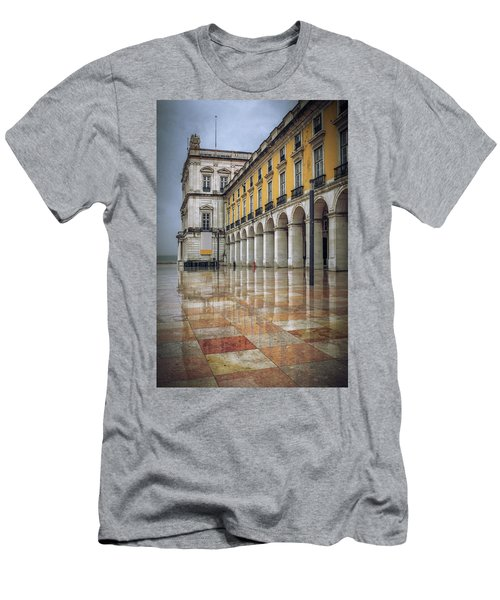 Building Of Terreiro Do Paco Men's T-Shirt (Athletic Fit)