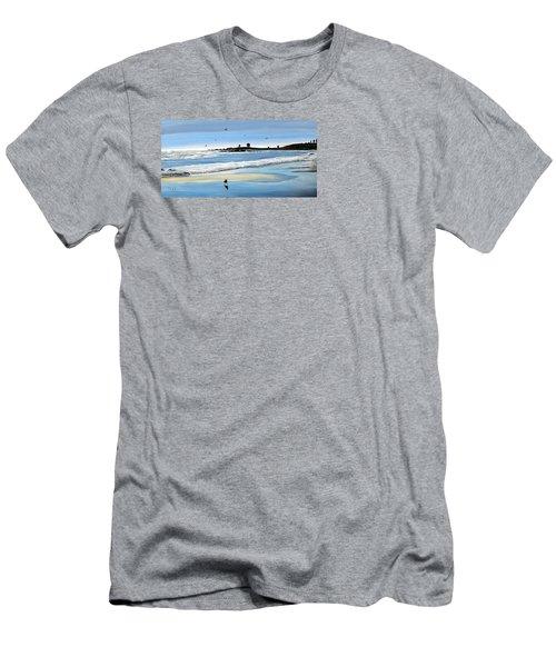 Bull Beach 2 Men's T-Shirt (Slim Fit) by Marilyn McNish