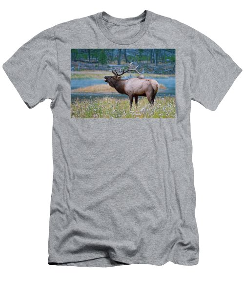 Men's T-Shirt (Athletic Fit) featuring the photograph Bull Elk by Wesley Aston