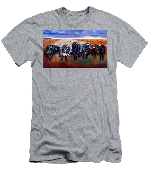 Bull Stampede Men's T-Shirt (Athletic Fit)