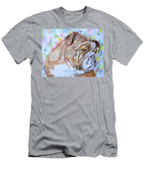 Bulldog - Watercolor Portrait.7 Men's T-Shirt (Athletic Fit)