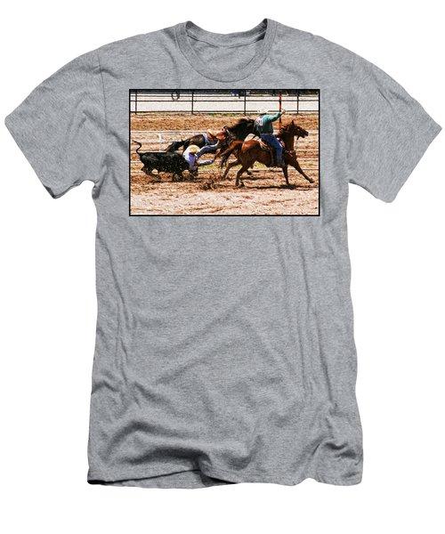Bulldogging Men's T-Shirt (Slim Fit) by John Freidenberg