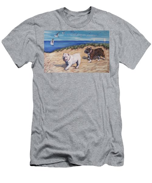 Bulldogs On The Beach Men's T-Shirt (Athletic Fit)