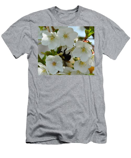 Bumble Bee In Hiding Men's T-Shirt (Athletic Fit)