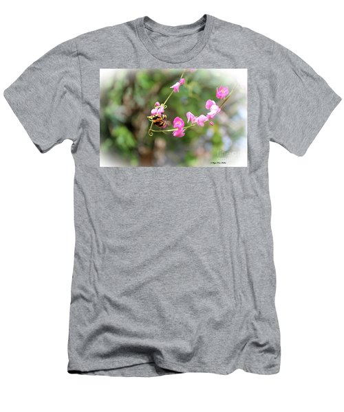 Men's T-Shirt (Athletic Fit) featuring the photograph Bumble Bee2 by Megan Dirsa-DuBois