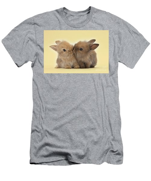Bunny Kisses Men's T-Shirt (Athletic Fit)