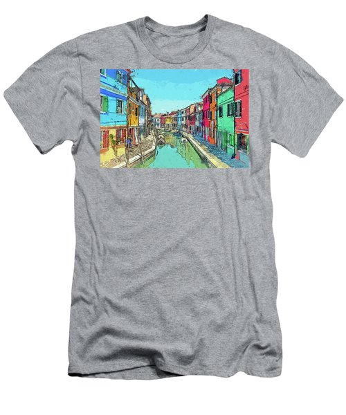 Burano Sketch Men's T-Shirt (Athletic Fit)