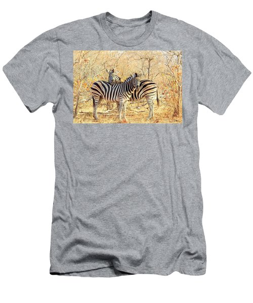Burchells Zebras Men's T-Shirt (Slim Fit) by Betty-Anne McDonald
