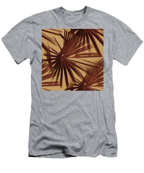 Burgundy And Coffee Tropical Beach Palm Vector Men's T-Shirt (Athletic Fit)