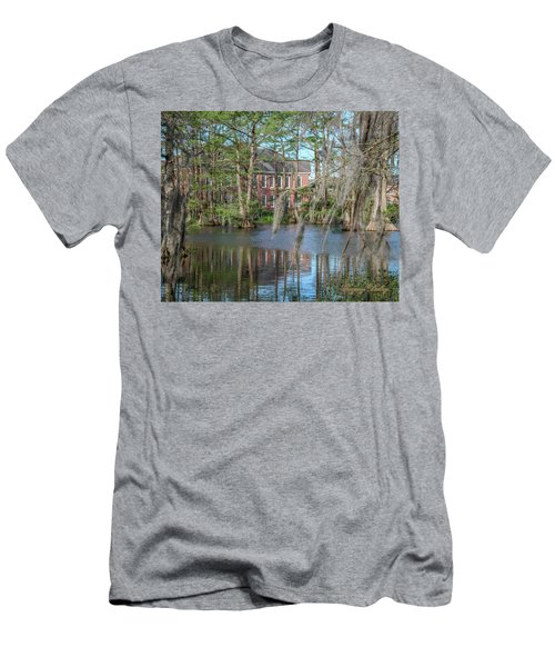 Men's T-Shirt (Slim Fit) featuring the photograph Burke Hall Cypress Lake by Gregory Daley  PPSA