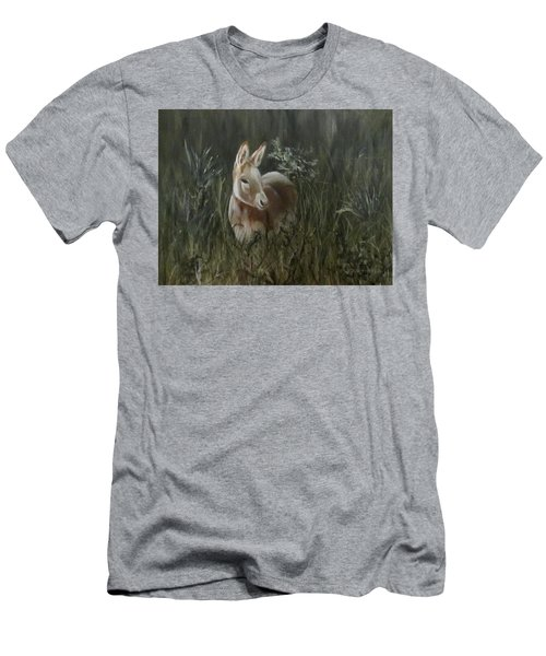 Men's T-Shirt (Slim Fit) featuring the painting Burro In The Wild by Roseann Gilmore