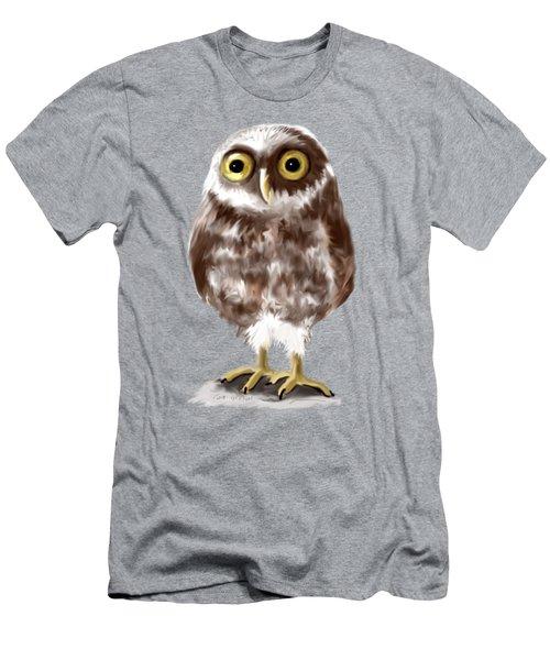 Burrowing Owl Men's T-Shirt (Slim Fit) by Jean Pacheco Ravinski