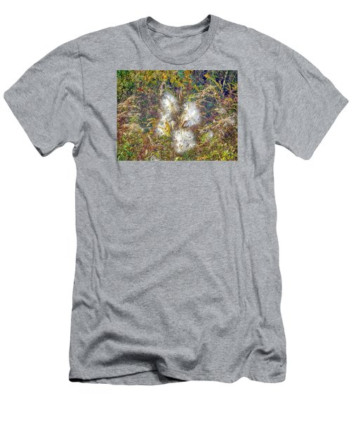 Bursting Milkweed Seed Pods Men's T-Shirt (Slim Fit) by Constantine Gregory