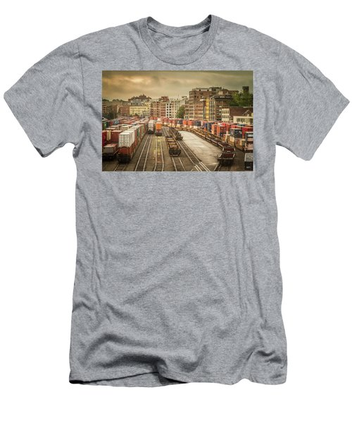 Busines End Of The City... Men's T-Shirt (Slim Fit) by Russell Styles