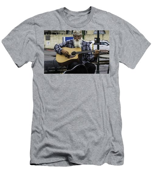 Busking In New Orleans, Louisiana Men's T-Shirt (Athletic Fit)