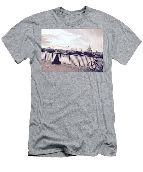 Busking Place Men's T-Shirt (Athletic Fit)