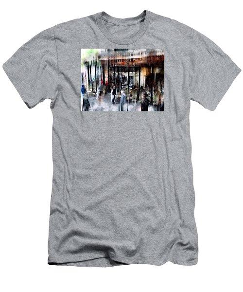 Busy Sidewalk Men's T-Shirt (Athletic Fit)