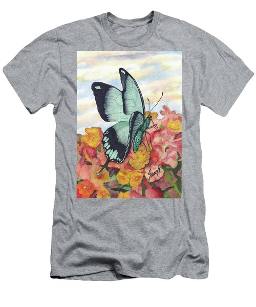Men's T-Shirt (Athletic Fit) featuring the painting Butterfly 180727 by Sam Sidders
