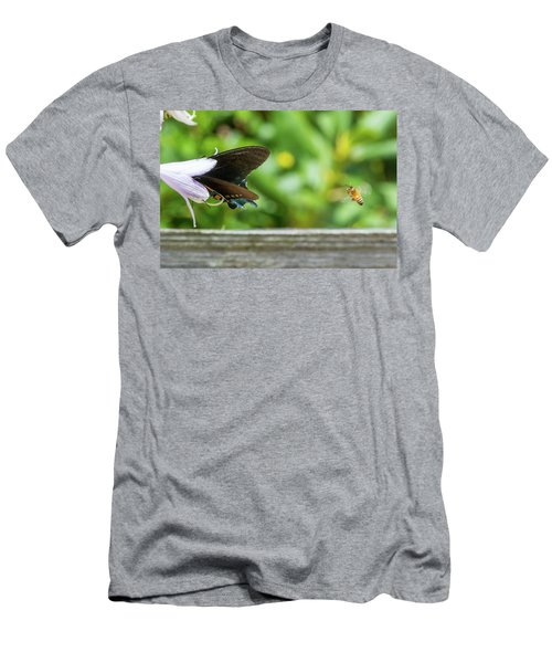 Butterfly And Bee Men's T-Shirt (Athletic Fit)