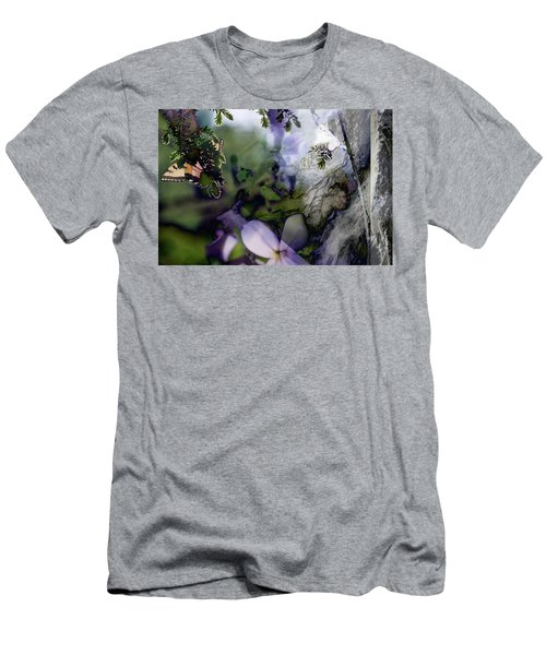 Butterfly Basket Men's T-Shirt (Athletic Fit)
