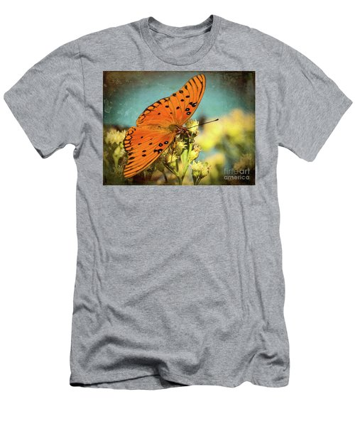 Butterfly Enjoying The Nectar Men's T-Shirt (Slim Fit) by Scott and Dixie Wiley