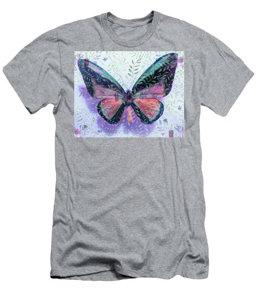 Butterfly Garden Fantasy Men's T-Shirt (Athletic Fit)