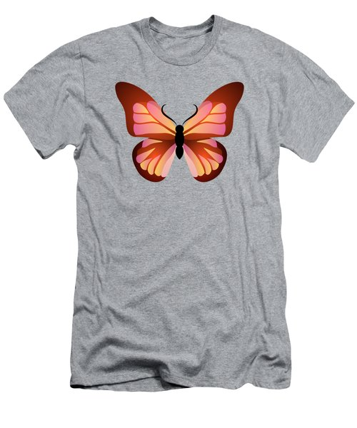 Butterfly Graphic Pink And Orange Men's T-Shirt (Slim Fit) by MM Anderson