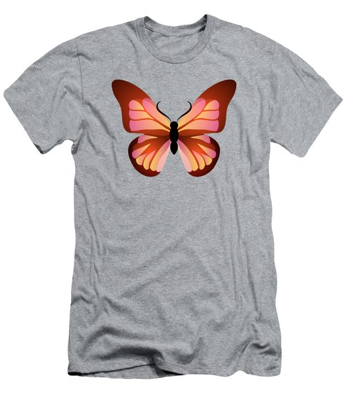 Butterfly Graphic Pink And Orange Men's T-Shirt (Athletic Fit)